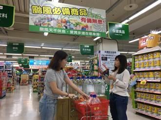 瑪莉亞颱風來襲》愛買成立防災商品專區  搶購湧人潮
