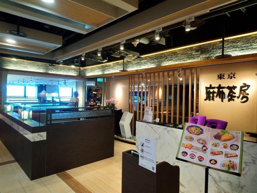睽違台中6年的日式餐廳「麻布茶坊」,進駐廣三SOGO百貨15樓美食區展店。(圖/曾麗芳)