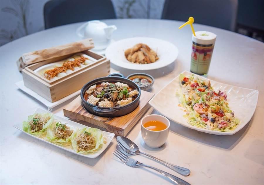 中友百貨看好蔬食市場,引進「漢來蔬食」餐廳。(圖/曾麗芳)