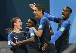 世足花絮》法國後衛有帶刀 進球效率有口碑