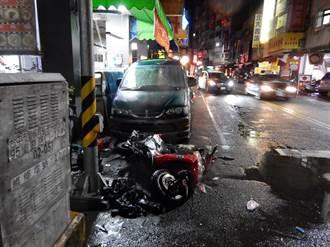 「瑪莉亞」惹的禍 雨夜視線差2車碰撞1人傷