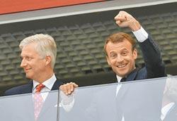 法國踢進世足決賽 馬克宏將約普丁看球