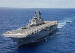 美軍小航母「好人理查號」 直擊氣墊船飆浪