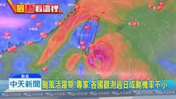 颱風活躍期恐一週一颱 各國觀測週日成颱機率不小