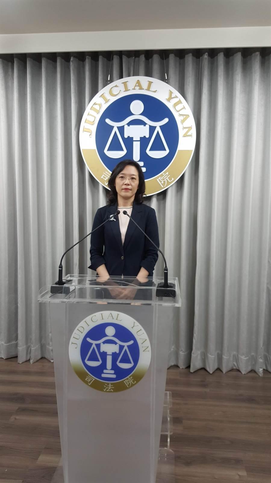 司法院大法官會議處長王碧芳。林偉信攝