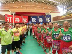台南市警察局宣導反毒 警局長率隊跟高中女籃對打被慘電