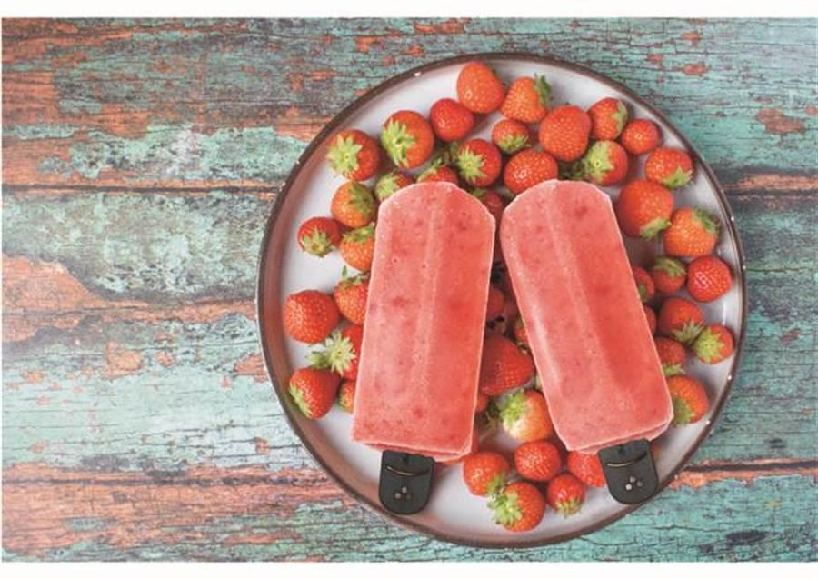 誠品攜手春一枝打造「台東關山草莓」風味精裝版冰棍。(圖片提供/春一枝)