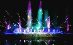 驚艷花蓮夜 奇萊傳說水舞燈光秀磅礴登場