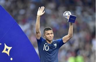 世足人物》姆巴佩比肩比利 榮膺最佳年輕球員獎