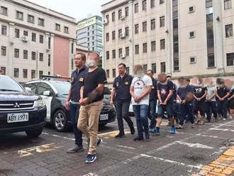 竹聯豹堂涉詐賭超商趕客討債  台中警掃黑逮13人