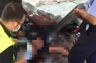 玻璃厂工安意外 男工遭碎玻璃割满身血