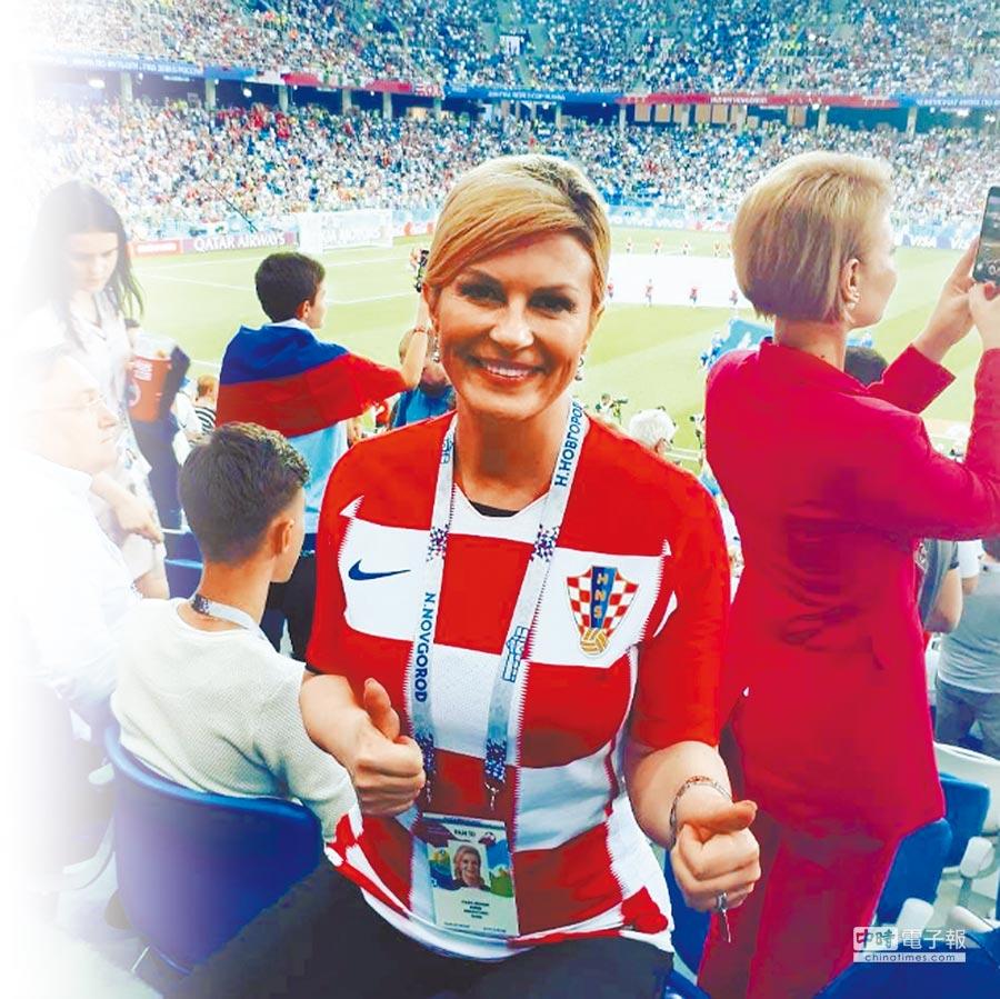 格子軍團踢出了世足大驚奇,克羅埃西亞女總統科琳達順理成章成了新一代「迷妹」領袖。(摘自科琳達IG)
