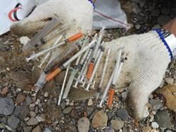 基隆外木山清出大批針筒 警方:海漂廢棄物無毒