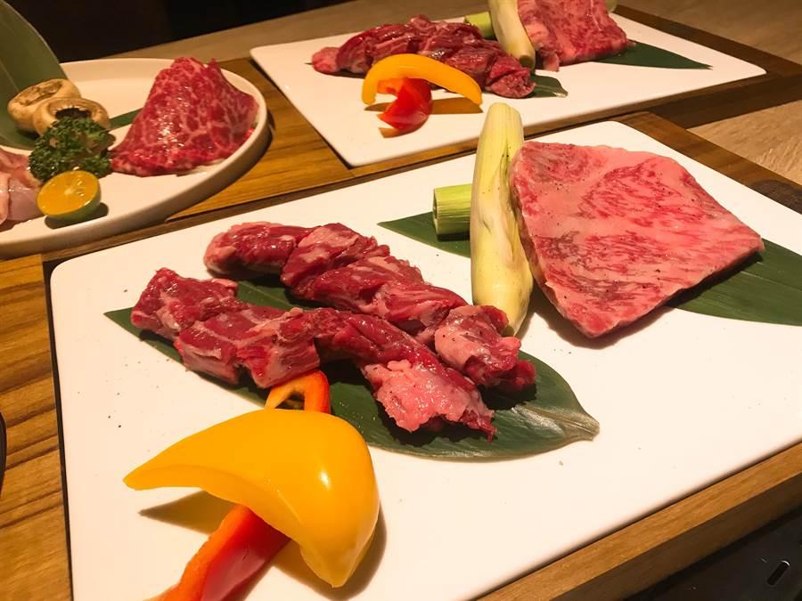 店家主打日本和牛,不經醃製,吃得到原汁原味。(柯宗緯攝)