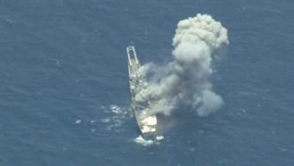 影》5千噸登陸艦成標靶 MK-48魚雷擊斷龍骨