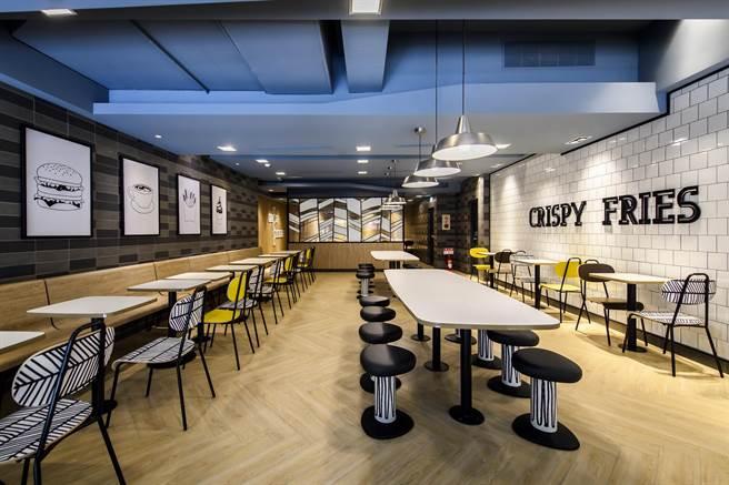 .麥當勞台北昆 明店換裝改版後,預料將成時尚打卡新地標。(圖/台灣麥當勞)