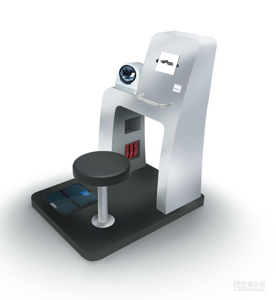 高登智慧科技將展示自行設計的一站式健康量測站(HCare3),可說是最能符合智慧照護的設備。圖/業者提供
