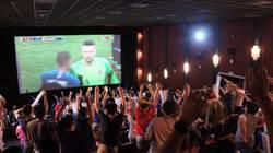 500球迷擠喜滿客 大螢幕看世足冠軍賽超嗨