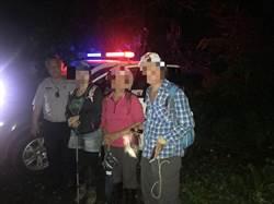 3登山客迷路體力不支 頭份警分局及時救回