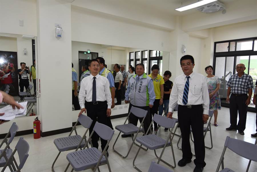山崙里集會所活動中心是彰化縣目前投資金額最多的集會所,內部空間十分寬敞明亮。(謝瓊雲攝)