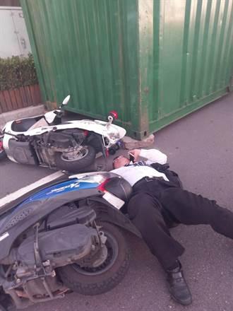 警察面前也撒野 男肉身撞翻保全遭逮補