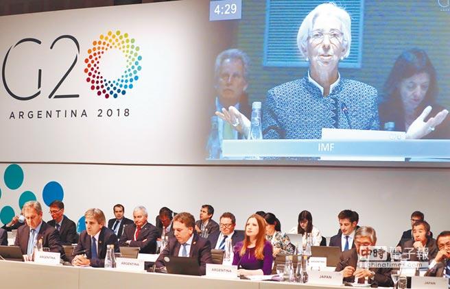 國際貨幣基金(IMF)總裁拉加德21日發表報告指出,加徵關稅可能對全球經濟造成嚴重打擊。(法新社)