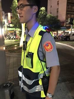 蘆洲警添「LED肩掛警示燈」 加強夜間執勤安全性