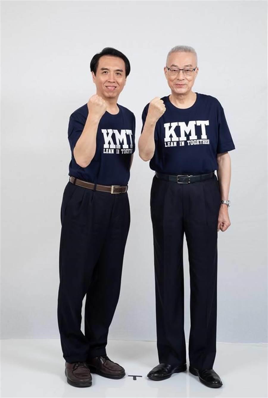 國民黨吳敦義與陳學聖的「神搭配」意外成為焦點(圖/擷取自 陳學聖臉書)