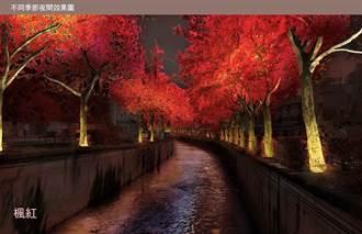 台中》紐約自由女神像燈光設計師 將為中市南屯溪打造萬種「楓」情