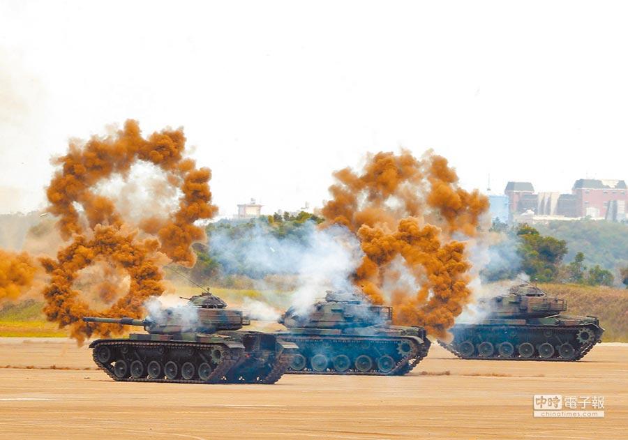 美軍參與台灣漢光演習,未列《國防授權法》最後版本。圖為6月7日漢光34號演習。(本報系資料照片)