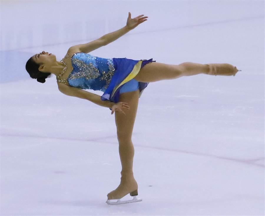 亞洲公開花式滑冰國際經典賽-台北站被移至大陸東莞舉辦,過程成為羅生門,圖為去年全國花式滑冰錦標賽請到日本滑冰選手細田采花在開幕典禮表演。(中央社資料照)