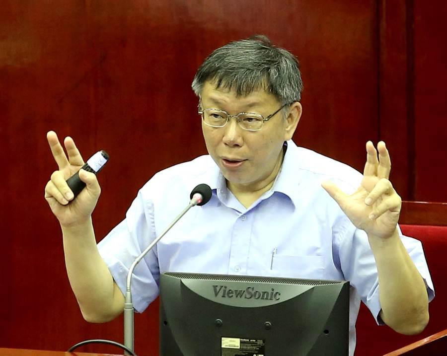 眼看台北市長柯文哲將成為全台最大尾,終於有綠營議員說出當初柯文哲和民進黨分裂真相是「不讓柯P挑戰2020」。(王英豪攝)