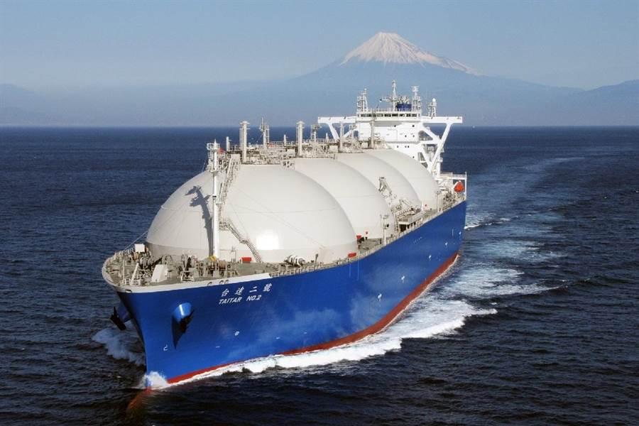 中油轉投資尼米克公司的LNG船。(中油提供)