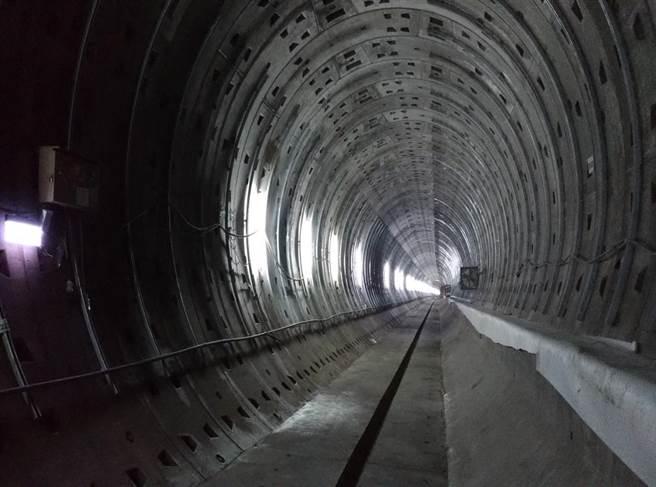 機捷A22老街溪站往A21環北站潛盾隧道已開通。(高鐵局提供)