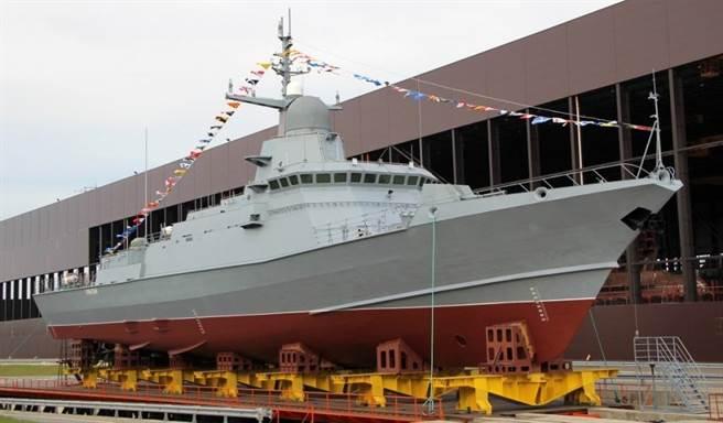 俄國新式22800輕型導彈砲艇有「迷你神盾艦」之稱。(圖/衛星通訊社)