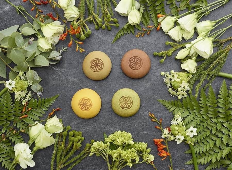 小茶栽堂推出全新茶食鉅作「小茶圓」新式月餅。圖/業者提供