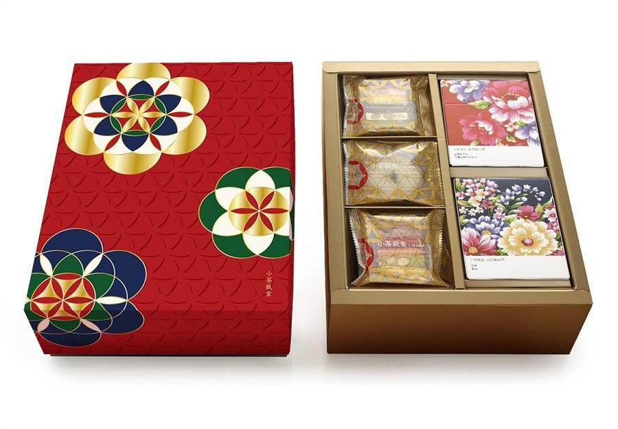 小茶栽堂「繁花似錦」禮盒,以「生命之花」圖騰為主題。圖/業者提供