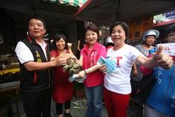 台中》市場拜票談「酸雨」 盧秀燕:人民聲音市府都要重視