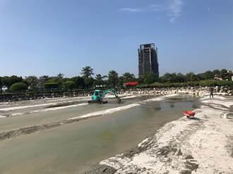台中》中市豐樂公園工程水池動物暫搬家 9月底遷回