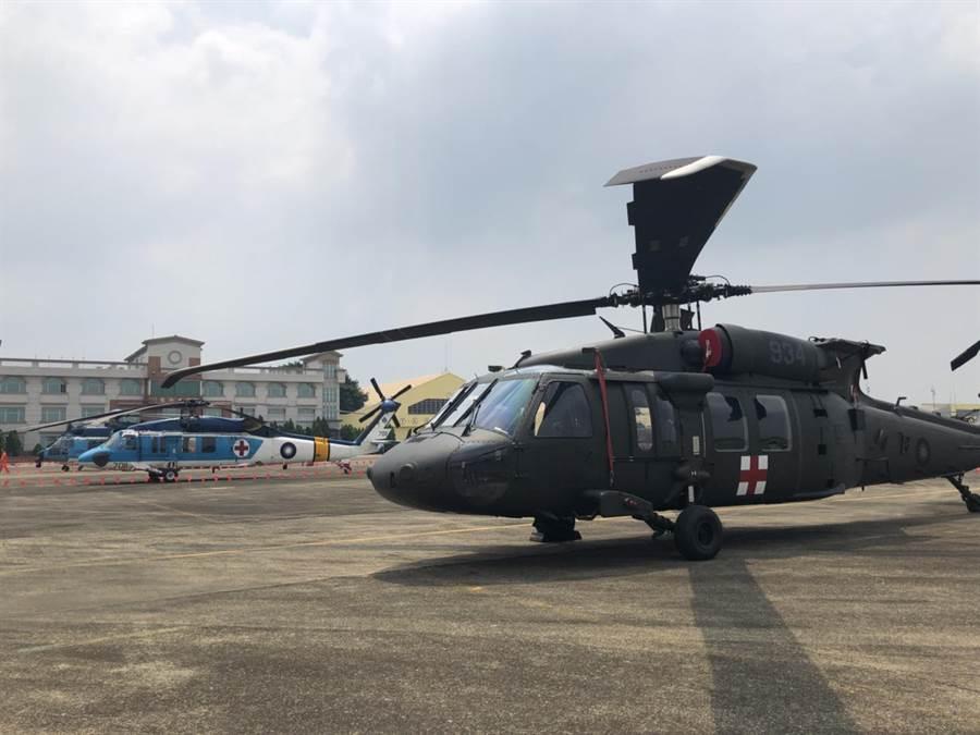黑鷹救護直升機。(楊佳穎攝)
