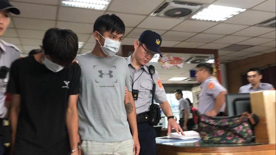 警方訊後將動手打人張男等4人依傷害致死罪嫌移送。(譚宇哲攝)