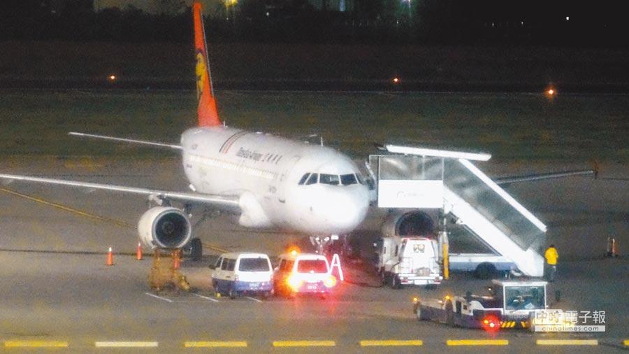 調整飛機起降時間恐引起他國反制。圖為桃園機場紅眼班機。(本報系資料照片)