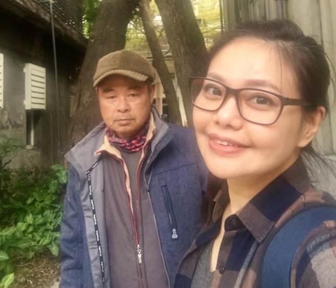 林嘉俐和爸爸感情好。(艾迪昇提供)