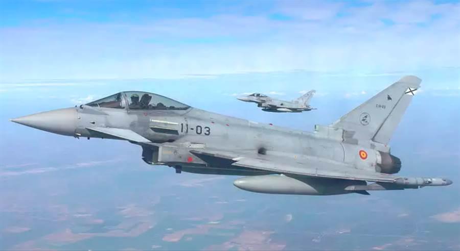 西班牙空軍「颱風」戰機的資料照。(西班牙空軍)