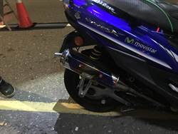 新店警將強力抓改裝機車排氣管  北宜路過彎壓車