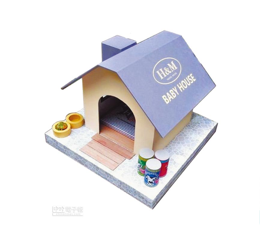 Yahoo奇摩拍賣的天匠紙紮寵物屋,特價2500元。(Yahoo奇摩提供)