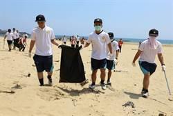 守護北海岸沙灘 新北百位熱血替代役共同淨灘