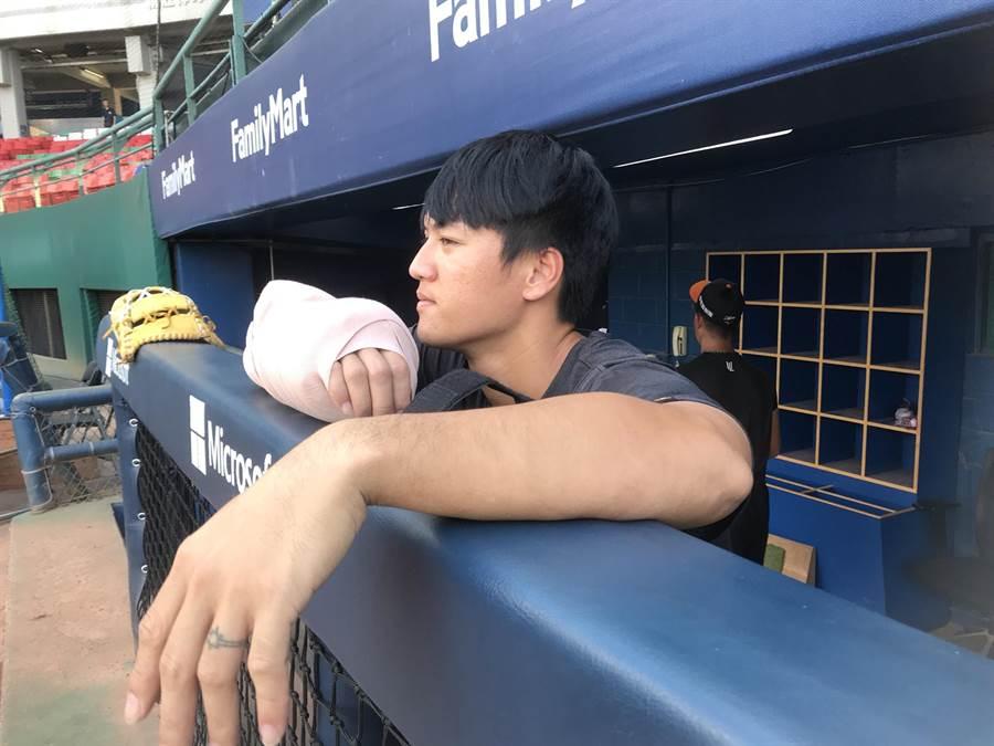 蘇智傑恐因右手腕傷勢退出中華隊(鍾亞芳攝)