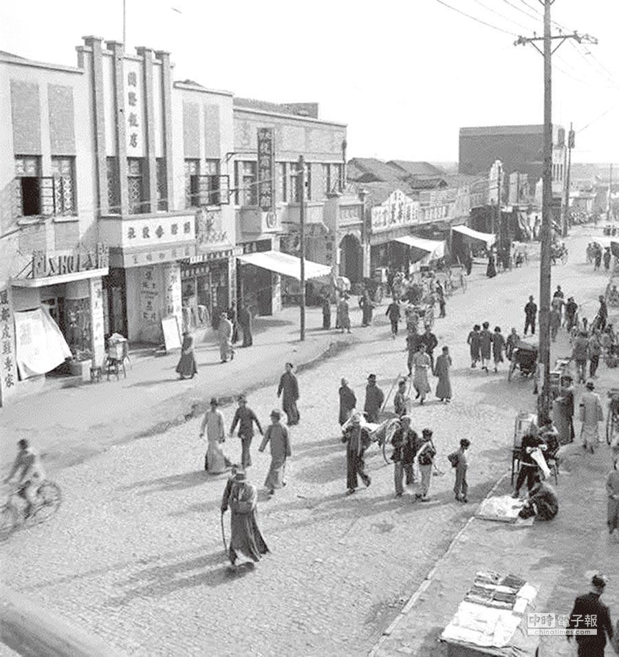 1930年代的南京太平南路,(取自網路)