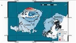衛星發現 連續地震使印尼龍目島隆起25公分